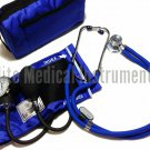 EMI ROYAL BLUE Sprague Rappaport Stethoscope and Aneroid Sphygmomanometer Blood