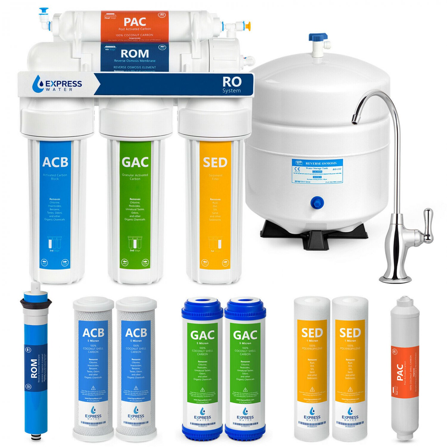 Express Water Reverse Osmosis Water Filtration System � 5 Stage RO Water Purif