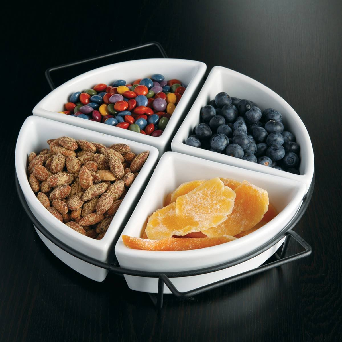 Gibson Circle 4-Section Tidbit Dish with Stand