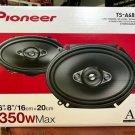 "Pioneer TS-A6880F 6"" x 8"" 350 Watts Max Power A-Series 4-Way Car Audio Coaxial Speakers Pair W Fiber"