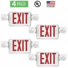 4 PACK - UL Listed- Single/Double Face LED Emergency EXIT Sign