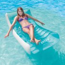 Intex Inflatable Rockin' Lounge Swimming Pool Floating Raft Chair with Cupholder