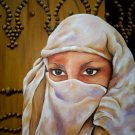 Oil painting traditional women art Tunisia