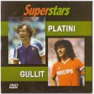 Football Soccer Superstars PLATINI GULLIT PAL DVD