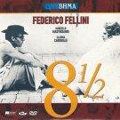 """""""""""8 1/2"""""""" Marcello Mastroianni Claudia Cardinale Fellini R2 DVD only Italian"""