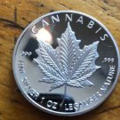 2014 1 oz cannabis silver coin canadian silver shield coin year 2014 FREE SHIPPING
