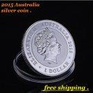 2015 1oz silver australian coin koala silver coin queen ELIZABETH II coin Australian silver coin