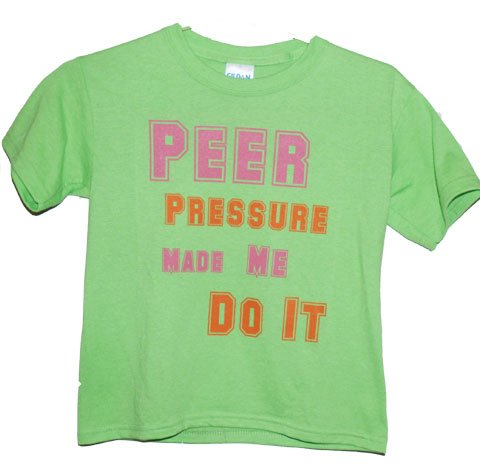 Peer Pressure Girls Tee (HOT GREEN)