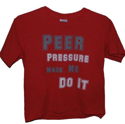 Peer Pressure Girls Tee (RED)