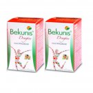 Bekunis Laxative For Constipation Relief Tablet 45 Herbal Tablets X2 Bottle - FS
