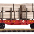 Piko G 38740 SANTA FE FLATCAR W/ LUMBER LOAD (G-SCALE) Mint In box