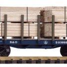 Piko G 38741 B&O FLATCAR W/ LUMBER LOAD (G-SCALE) Mint In box