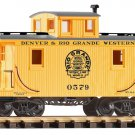 Piko G 38833 D&RGW WOOD CABOOSE, YELLOW (G-SCALE) Mint In Box