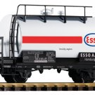 Piko G 37944 DB IV ESSO 2-AXLE TANK CAR WITH BRAKE PLATFORM (G-SCALE) Mint In Box