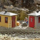 Piko G 62718 RAILROAD TOOL SHED 2-PACK BUILT-UP BUILDING (G-SCALE) Mint In Box