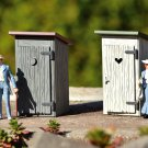 Piko G 62719 OUTHOUSE 2-PACK BUILT-UP BUILDING (G-SCALE) mINT iN bOX
