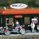 Piko G 62259 PETERS MOTORCYCLE SHOP, BUILDING KIT (G-SCALE) Mint In