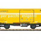 """LGB 47893 RhB """"La Posta"""" Container Flat Car Mint In box"""