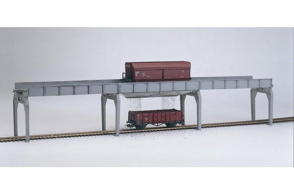 Piko HO 61122 CLASSIC LINE UNLOADING BRIDGE FOR HOPPER CARS, BUILDING KIT (HO-SCALE) Mint In Box