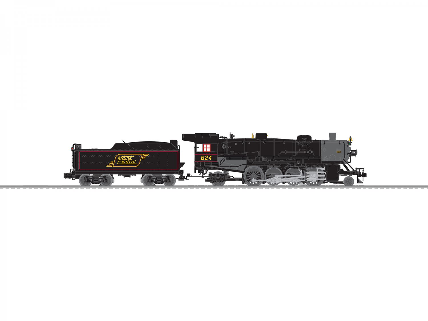 Lionel 6-84467 MAINE CENTRAL USRA LIGHT MIKADO #624 Mint In Box