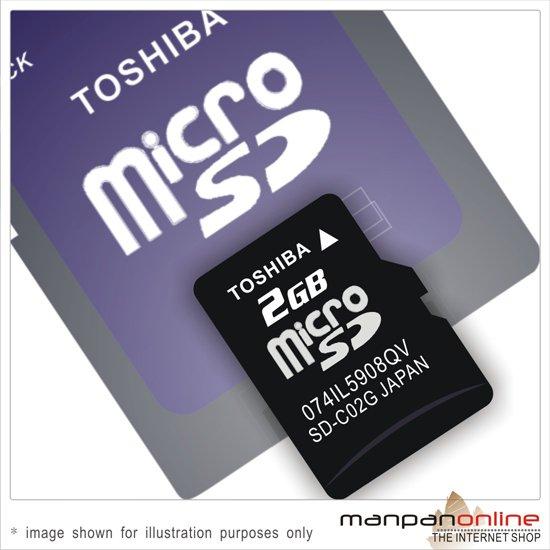 Genuine TOSHIBA TransFlash microSD 2GB Memory Card