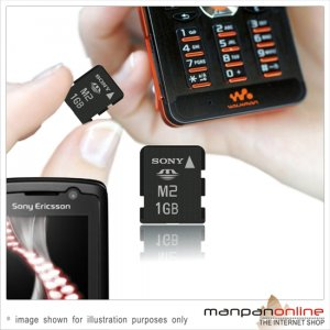 Genuine SONY Memory Stick Micro M2 1GB  Memory Card