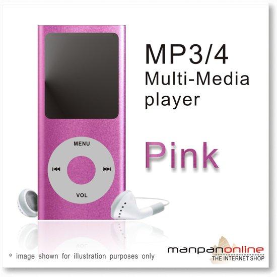 "MP3 MP4 Portable Multi Media Player 1.8"" LCD w/ 2GB pink"