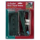 3 Outlet Outdoor UL Listed Yard Stake