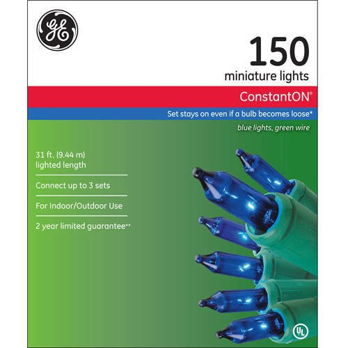 GE Blue Mini Lights 150 Count