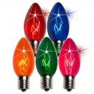 C9 Transparent Twinkle Multi Color Replacement Bulb