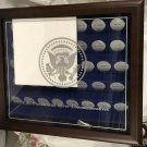 New US Presidential Silver Commemoratives Wooden Display Case Holds 44 Coins