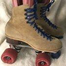 Vintage Jogger Suregrip Tan Leather Suede  Roller Skates Shoes Size 7