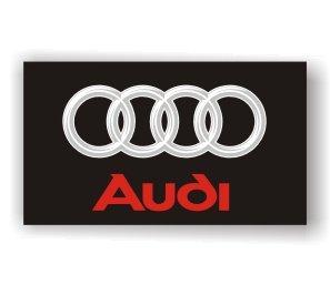 Audi 3D Logo Black Flag