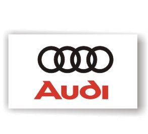 Audi White banner Flag