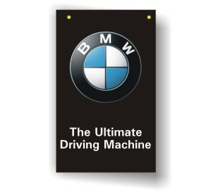 BMW 3D BLACK SHOW ROOM BANNER FLAG