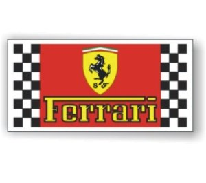 Ferrari Official Logo Flag