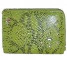 Green Vinyl Snakeskin Jeweled Studded Clutch Purse