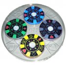 Can You Imagine Light Show Color Changing Poker Chip Coasters & Serving Tray