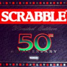 50th Anniversary Limited Edition UK Scrabble Crossword Word Game 1998