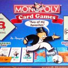 Hasbro Winning Moves Monopoly Card Games Free Parking and Waterworks Set 1999