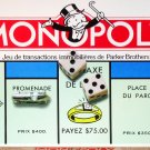 French Edition Monopoly Board Game Parker Brothers Canada 1996