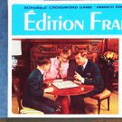 French Foreign Edition Scrabble Crossword Word Game 1976 Vintage