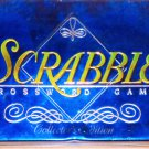 Scrabble Collector's Edition Crossword Word Game Deluxe Blue Tin Box