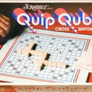 Scrabble Quip Qubes Cross Sentence Board Game 1981