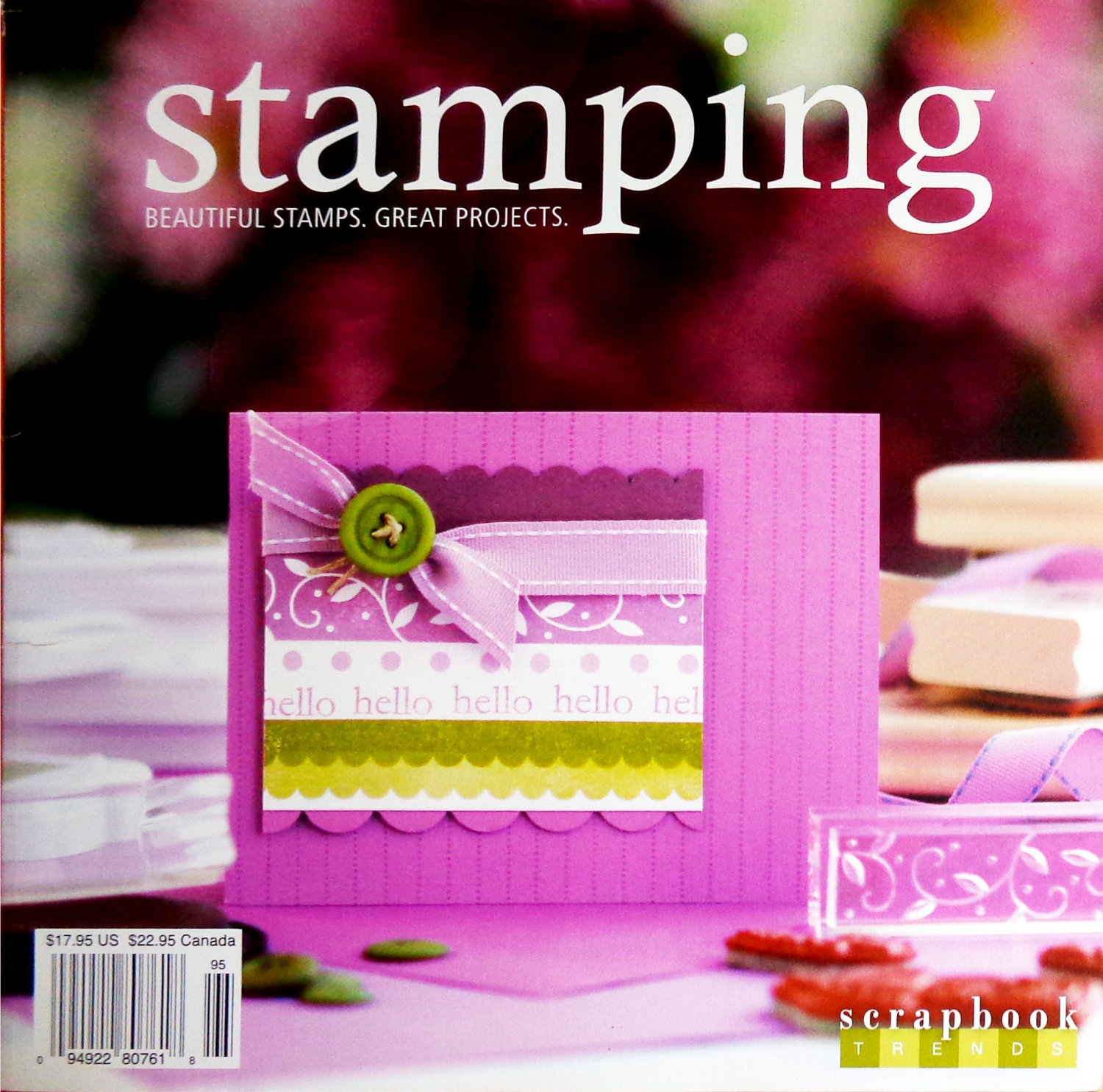 Scrapbook Trends Stamping Magazine 2009