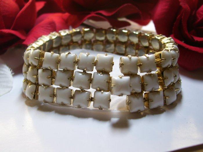 Weiss Milk Glass Bracelet