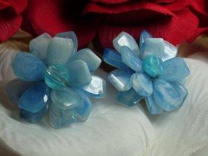 Hobe Vintage Ice Blue Earrings