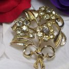 Coro 1960 Rhinestone Flower Brooch