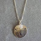 Sand Dollar Pendant with Swarovski Crystal Accent