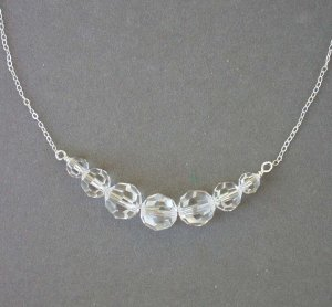 Swarovski Crystal and Fine Sterling Chain Necklace